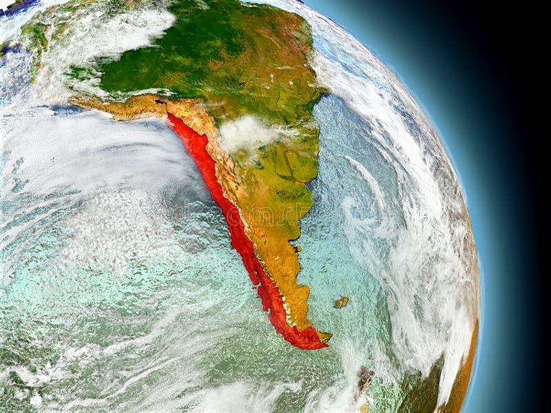 Chile vom Raum stock abbildung