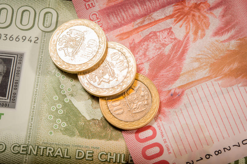 Download Chilean coins and bills stock image. Image of chilean - 30896325