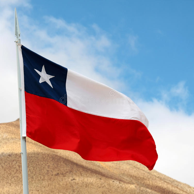 Chilean flag stock images