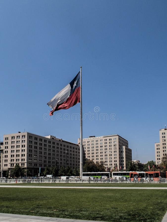 Big Chilean Flag stock photography