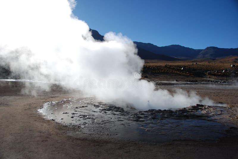 Chilean geysers stock photos
