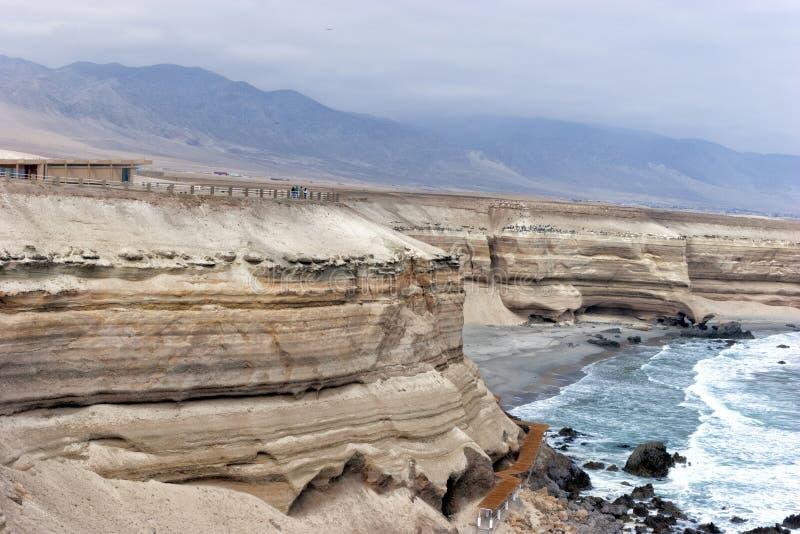 Chilean north, cliffs near Antofagasta . royalty free stock photography