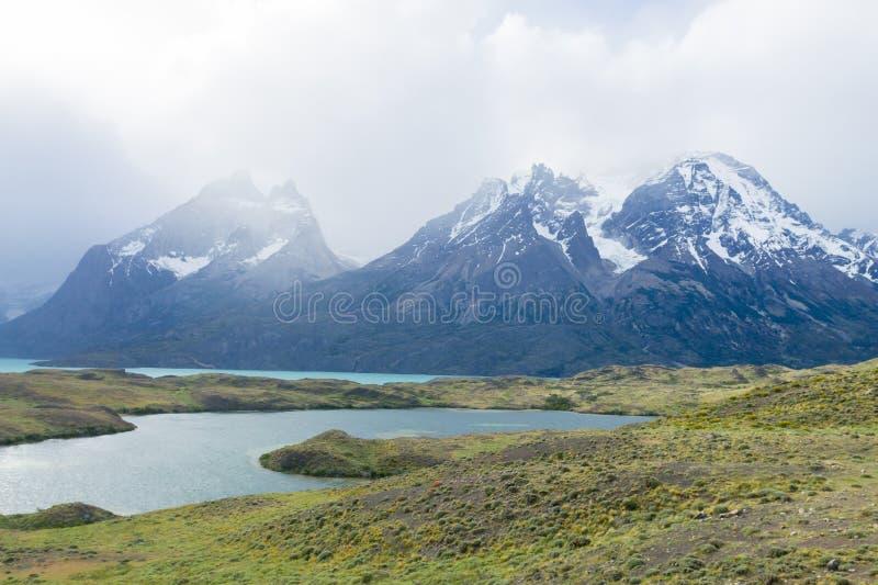 Chilean Patagonia landscape, Torres del Paine National Park stock images