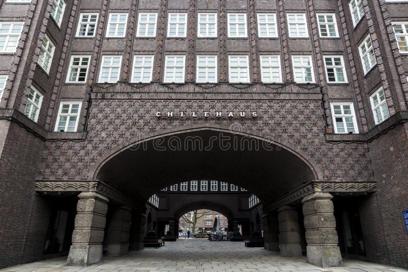 Chilehaus, Hamburgo, Alemania imagen de archivo libre de regalías