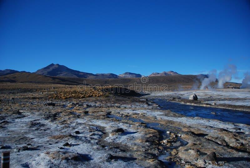 Chilenische Geysire lizenzfreies stockfoto