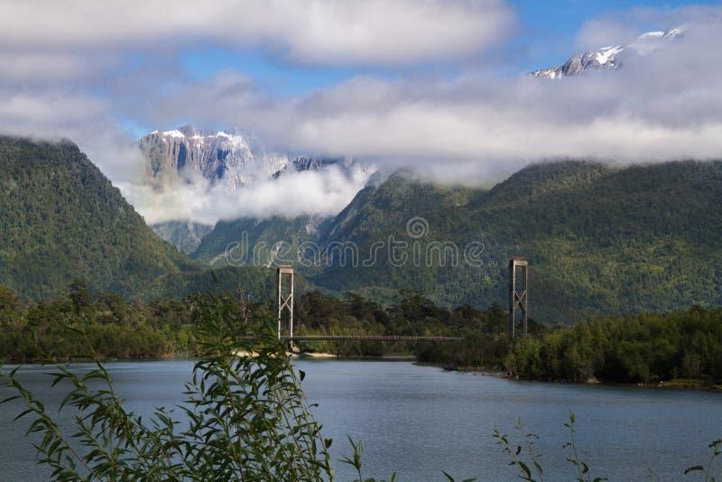 Chilenische Patagonialandschaft stockbilder