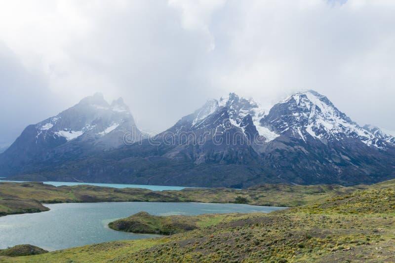 Chilenische Patagonialandschaft, Nationalpark Torres Del Paine lizenzfreies stockbild