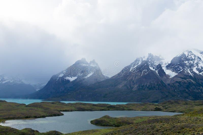 Chilenische Patagonialandschaft, Nationalpark Torres Del Paine stockbilder