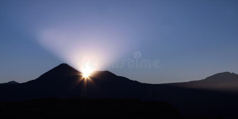 Chilenischer Sonnenaufgang stockbild