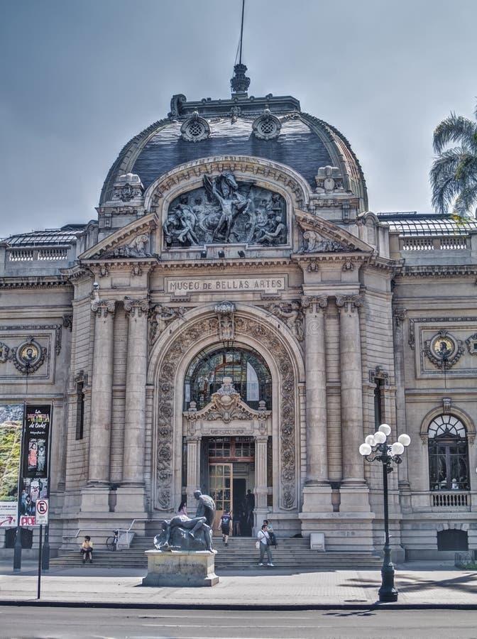 Chilenisches Nationalmuseum von schönen Künsten stockbilder