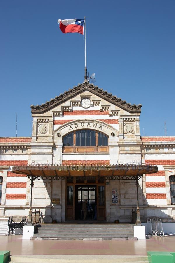 chilenskt tullkontor royaltyfri bild