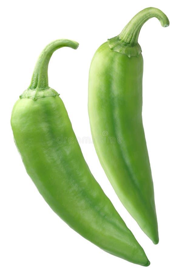 Chiles зеленого цвета Numex большие Джима, пути стоковая фотография rf
