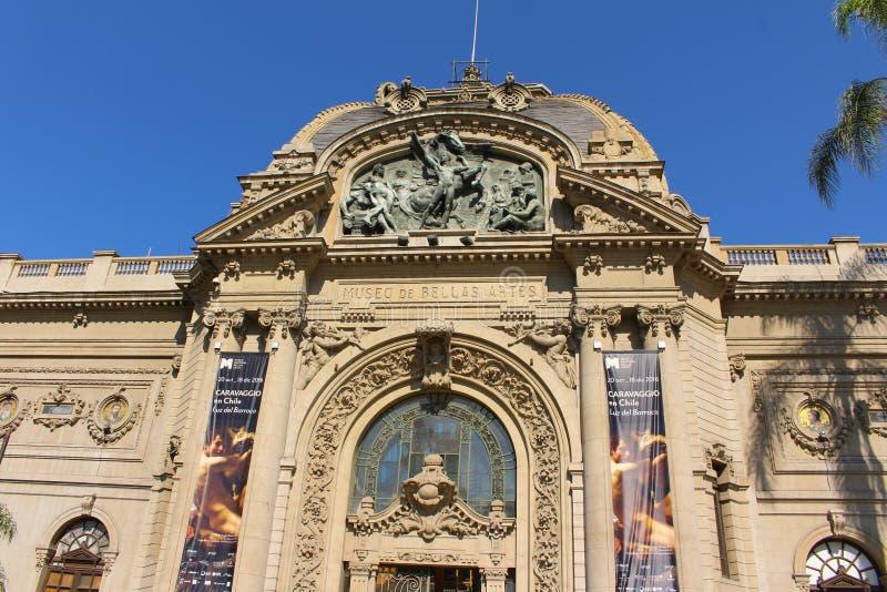 Chiles nationalmuseum för konstföremål Santiago, Chile fotografering för bildbyråer