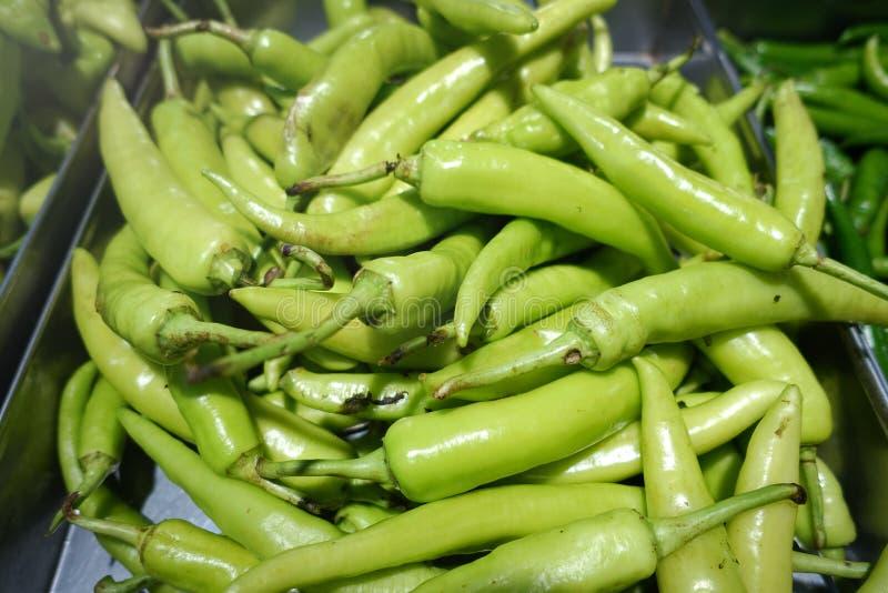 Chiles verdes fotografía de archivo libre de regalías