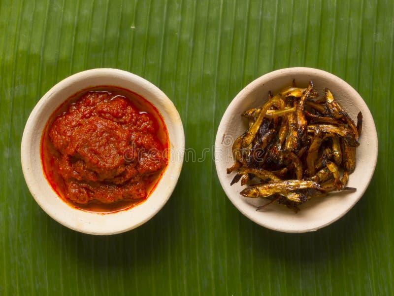 chili камс зажарил sambal стоковые фото