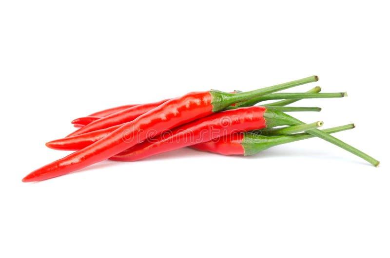 Chili стога красные или перец Кайенны чилей стоковая фотография