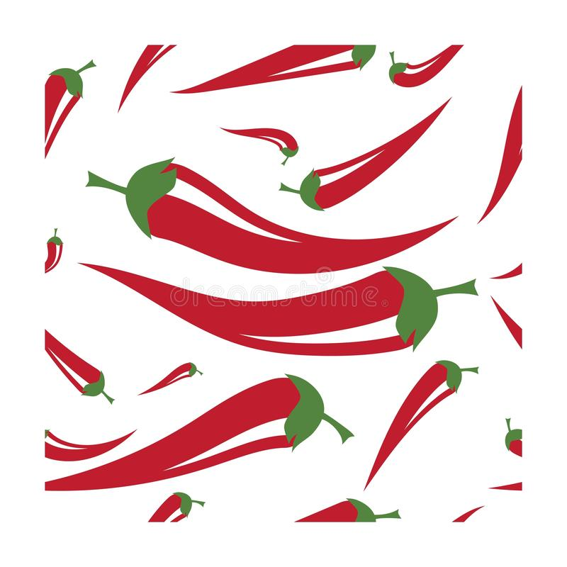 Chili background wallpeper. Seamless vector template, menu, mexico, element, peppercorn, pepperoni, tasty, vegan, raw, harvest, paper, paprika, chilli, mayo stock illustration
