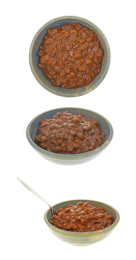 Chili in bowls stock photos