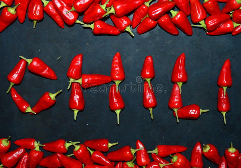 Chili from chili peppers royalty free stock photos