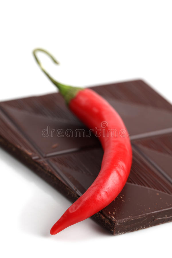 Download Chili and chocolate stock image. Image of sweet, block - 18634901