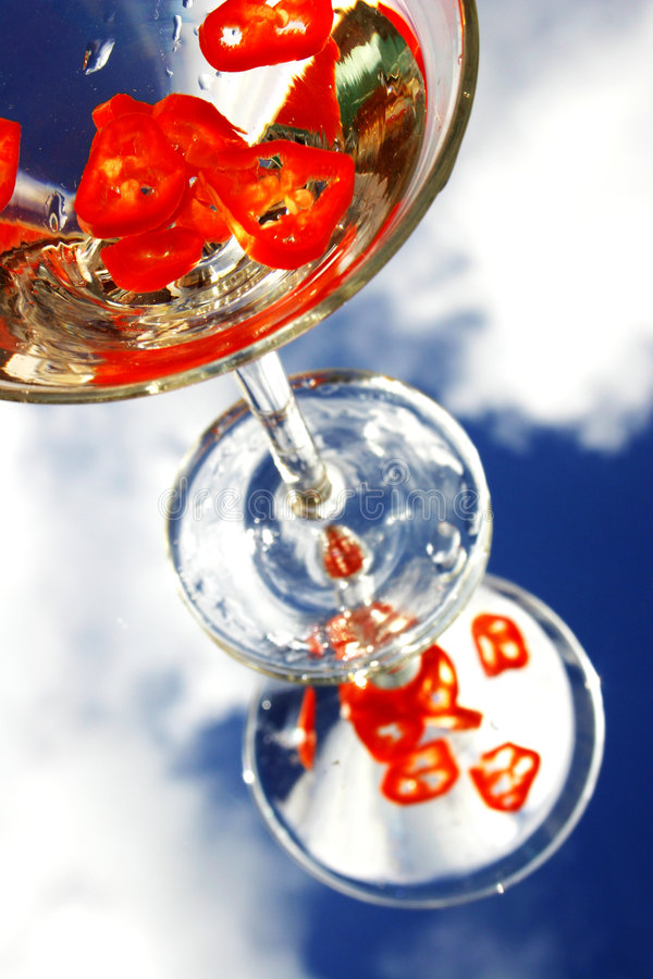Download Chili Cocktail stock image. Image of martini, white, fashion - 157593