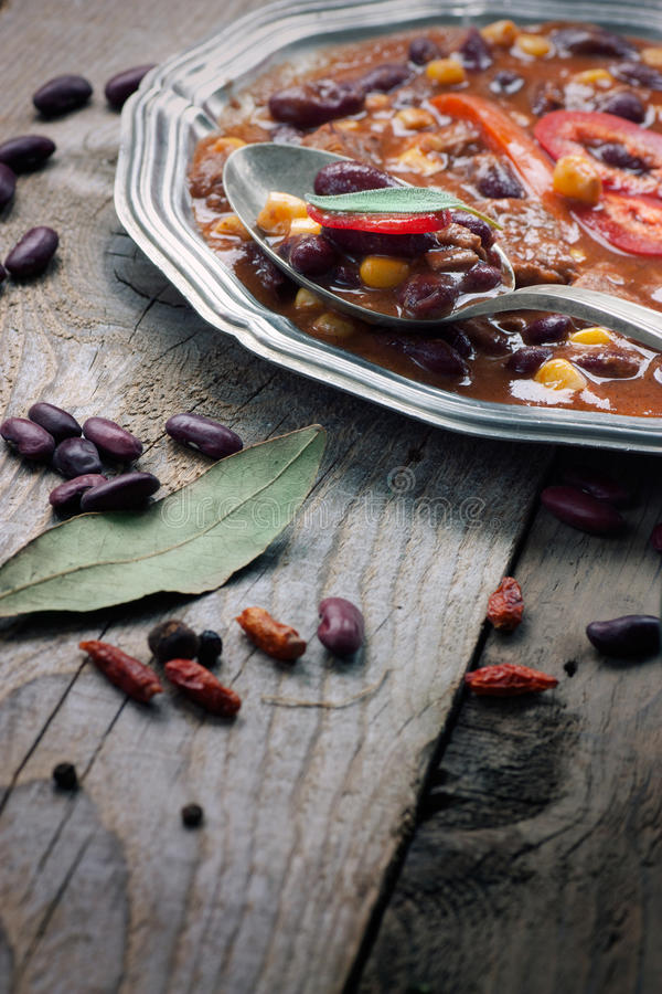Chili con carne stock images