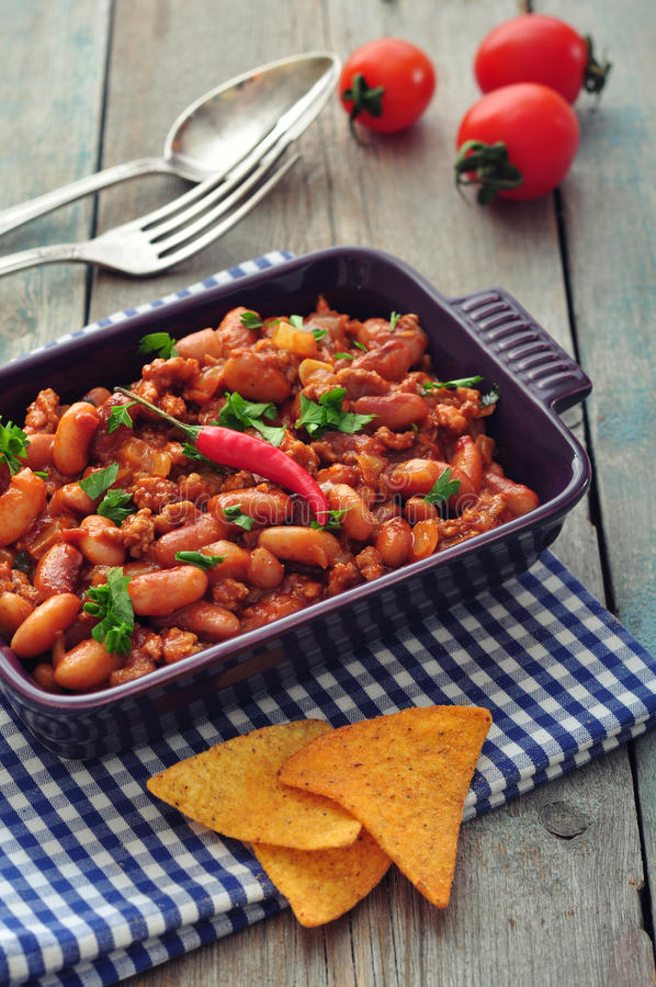 Chili Con Carne royalty-vrije stock foto's