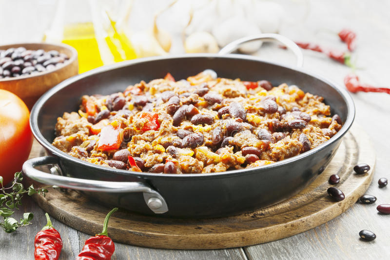 Chili con carne fotografia de stock