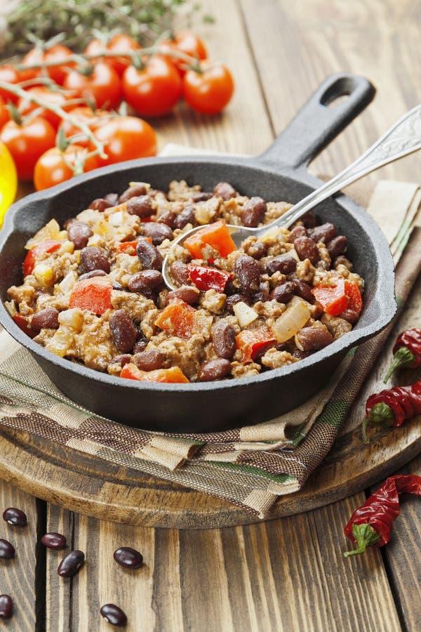 Chili con carne imagem de stock