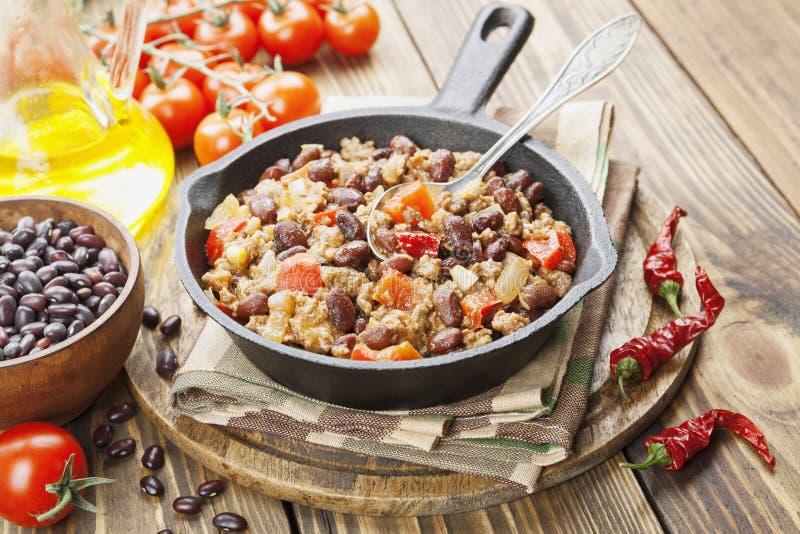 Chili con carne imagens de stock