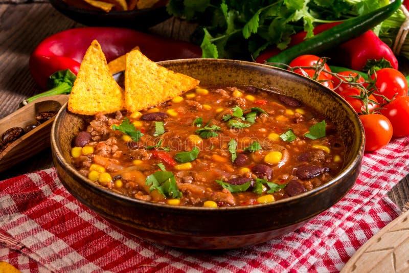 Chili con carne royalty-vrije stock afbeeldingen