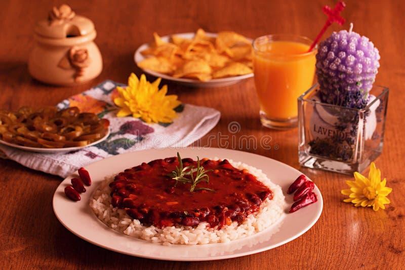 Chili con carne royalty-vrije stock afbeelding