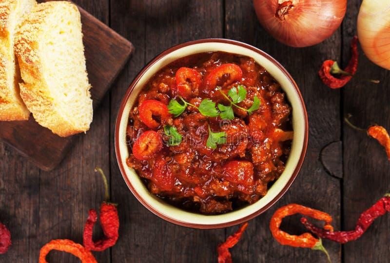 Chili con carne fotografie stock