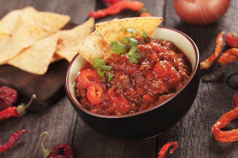Chili con carne messicano immagini stock