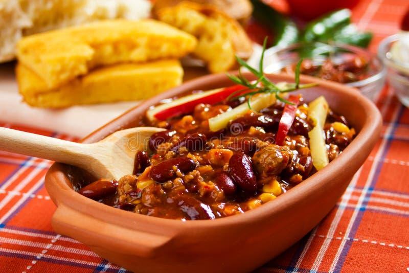Chili con carne mexicano imágenes de archivo libres de regalías