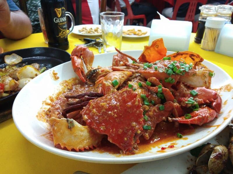 Chili Crab fotografía de archivo