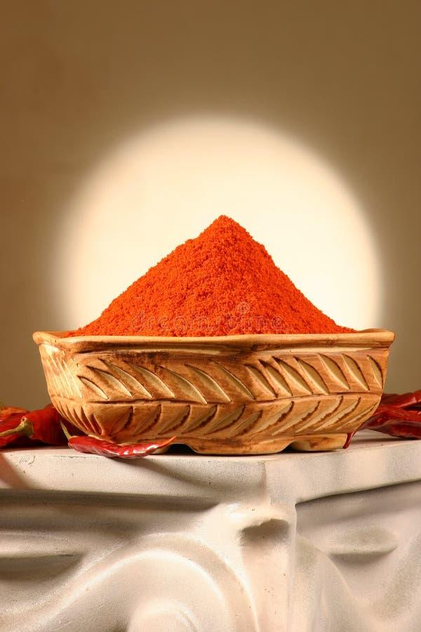 chili czerwony proszek fotografia royalty free