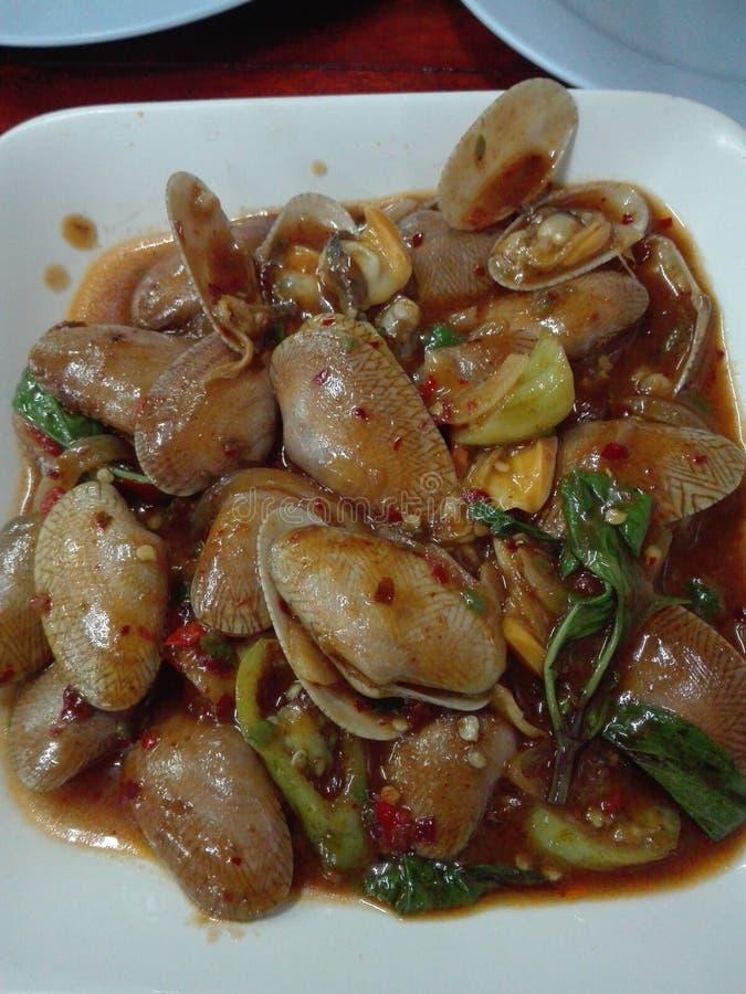 chili för tvåskaligt skaldjur för ‹för clam†för ‹för shellfishchilli†arkivbild
