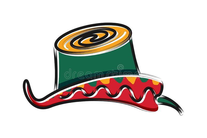 Chili and hat mexican, tacos logo Designs Inspiration Isolated on White Background. royalty free illustration