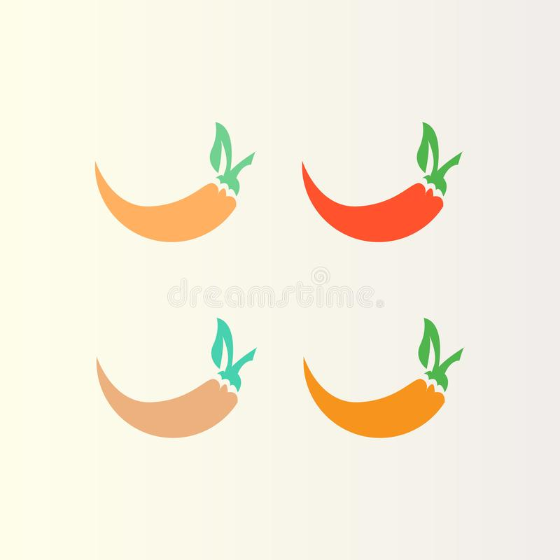 Chili icon Logo Design Adobe illustrator royalty free illustration