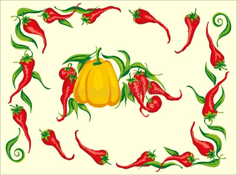 chili kąta ramy gorącego pieprzu czerwień fotografia royalty free