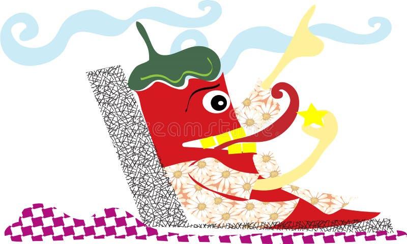 Chili, kreskówka, abstrac, wakacje, zabawa, barwi zdjęcie royalty free
