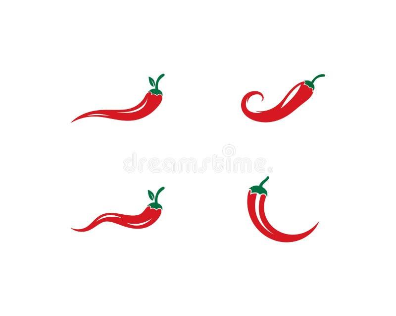 Chili logo vector. Template vector illustration
