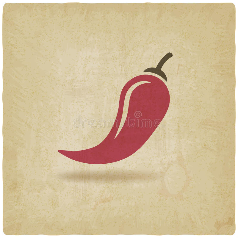 Chili old background vector illustration