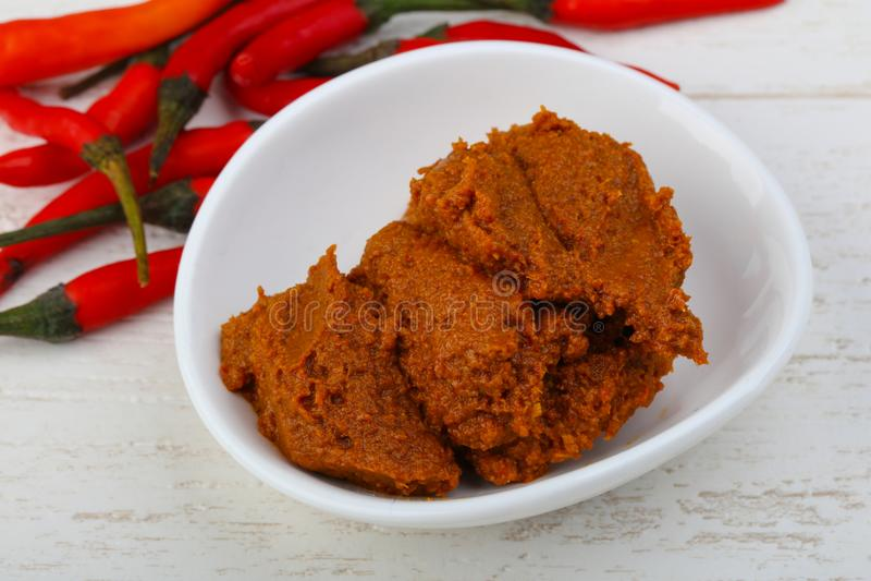 Chili paste stock image