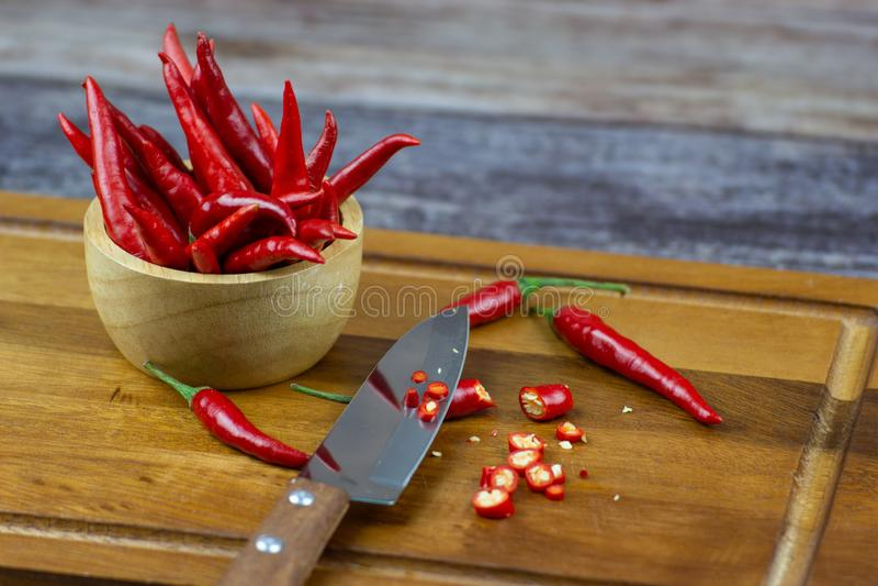 Chili - pepparv?xterna till naturen av sf?ren arkivfoto