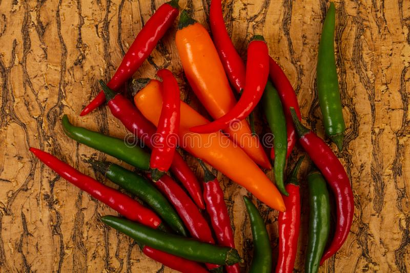 Chili pepper heap stock photography