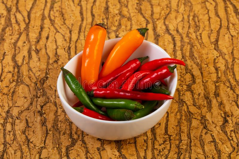 Chili pepper heap royalty free stock photos
