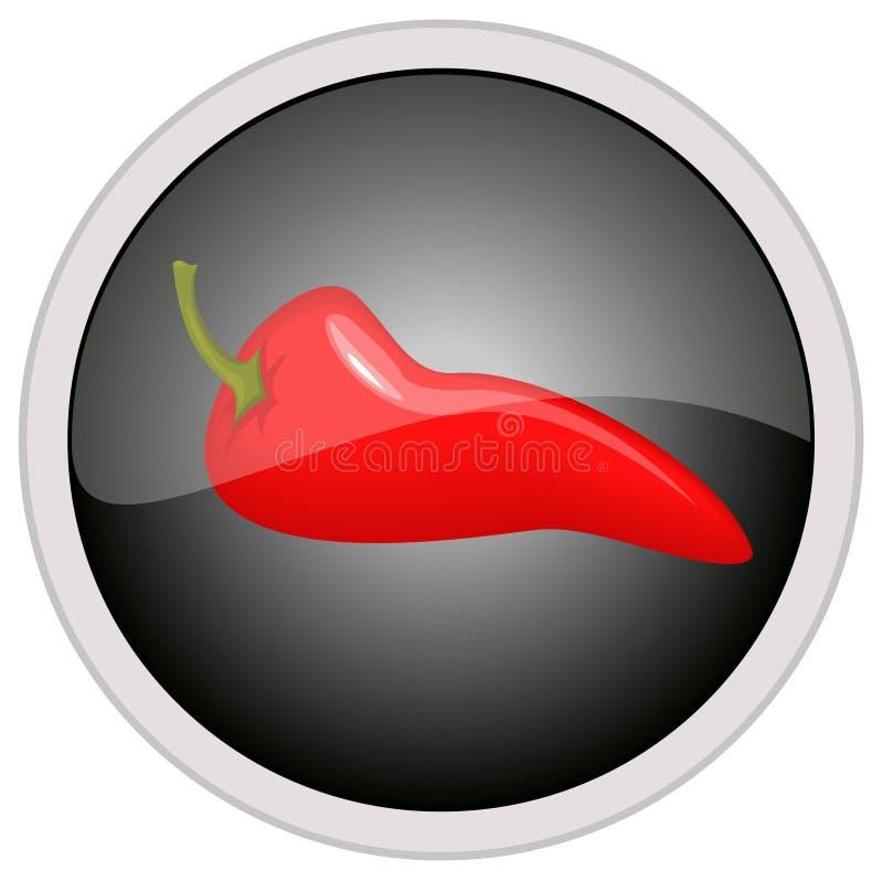 Chili pepper icon. Vector file of chili pepper icon stock illustration