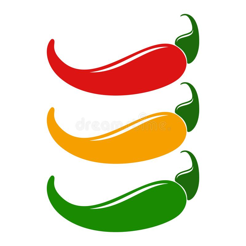 Chili pepper logo. Natural and organic food vector template illustration royalty free stock photos